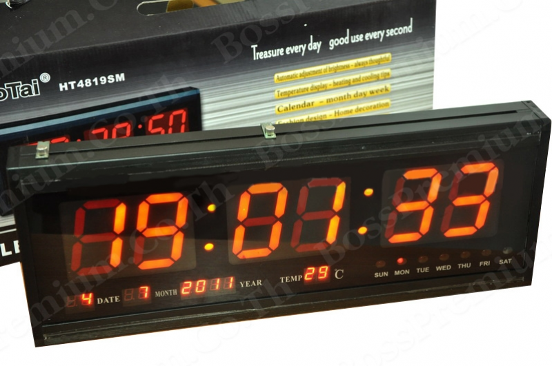 LED Digital Wall Clock (New) Model HT 4819SM