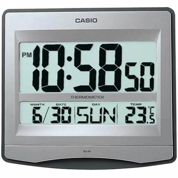 CASIO ID-14-8 DIGITAL WALL CLOCK / DESK CLOCK WITH (end 6/25/2016 11 ...