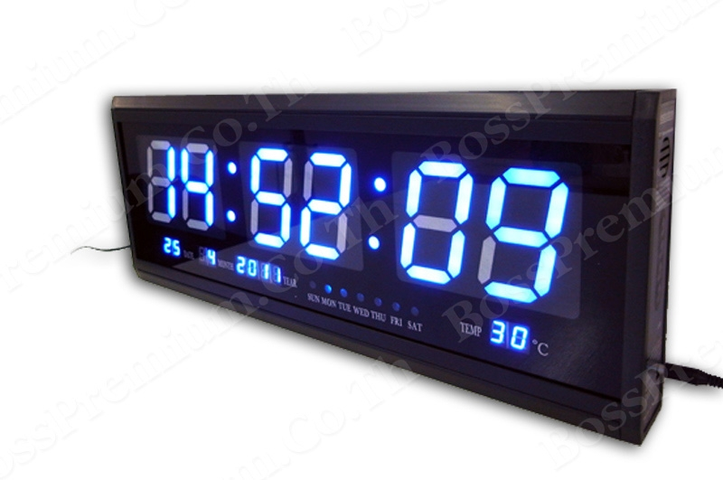 ... led digital wall clock ty 4819sm premium blue led digital wall clock