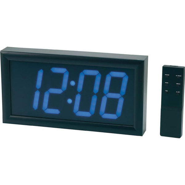 Jumbo LED Wall Clock with Alarm