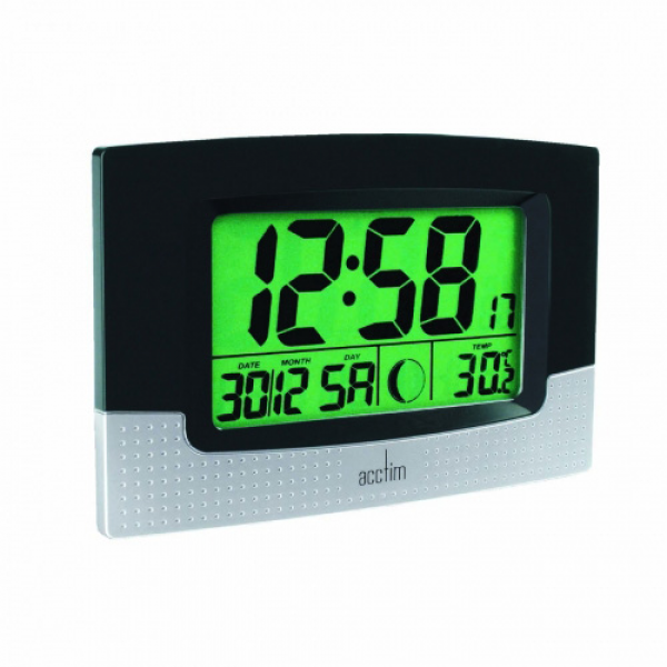 ... Large LED Digital Desk/Wall Clock with Alarm Calender Moonphase New