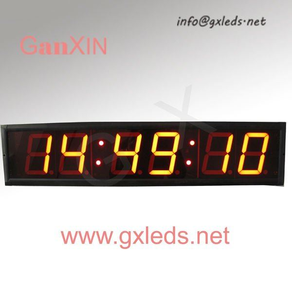 contemporary digital small glass cover led wall clock-in Wall Clocks ...
