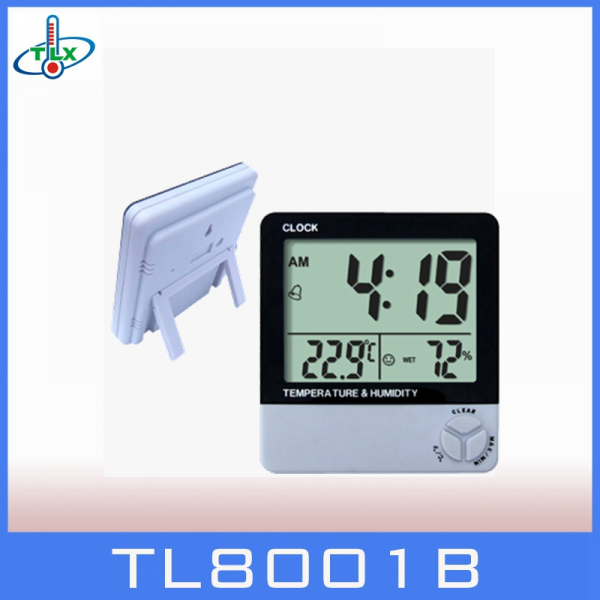 Lcd Small Digital Wall Clock with Temperature Humidity