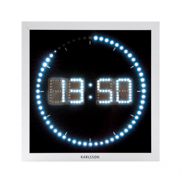 The Time Roll LED Wall Clock by Karlsson | Fab.com