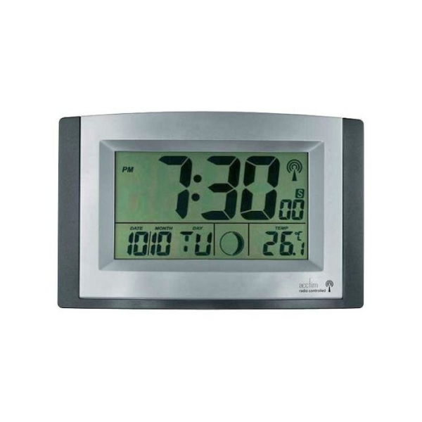 Acctim Status Digital Wall Clock Radio Control MSF Big Display on eBid ...
