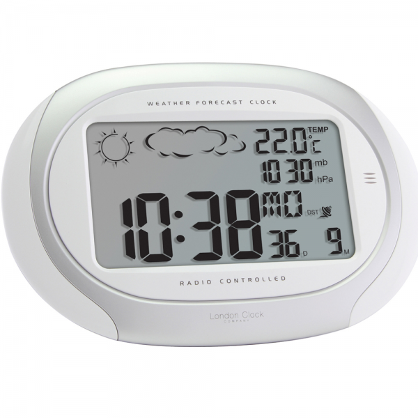 Radio Controlled Digital Weather Forecast Wall Clock 18.5cm