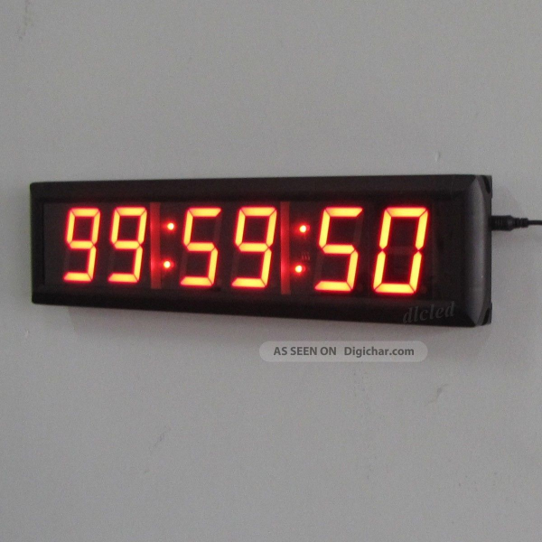 ... High Character Led Wall Clock Arrival Led Digital Clock Countdown/up