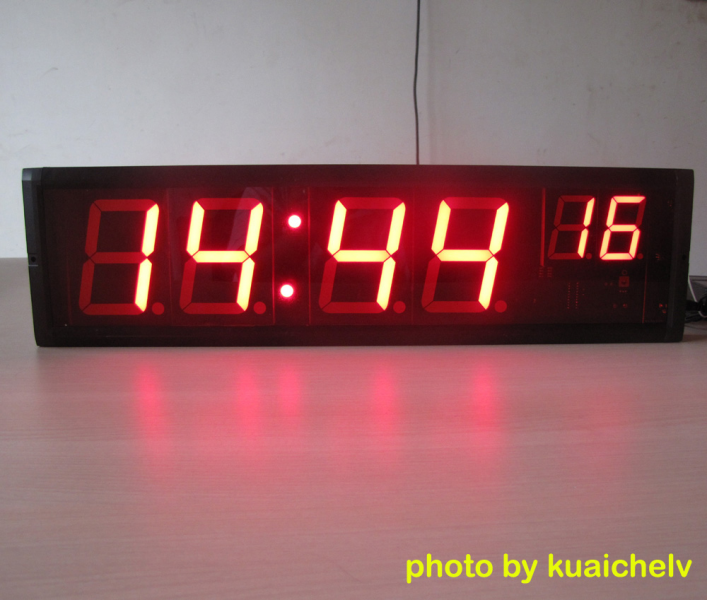 Large LED Countdown Timer: large LED digital wall clock time display
