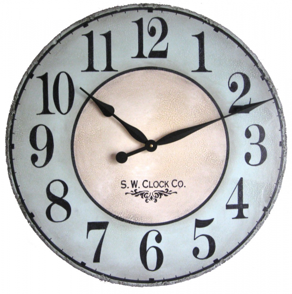 24 inch North Haven Large Wall Clock Antique style by Klocktime