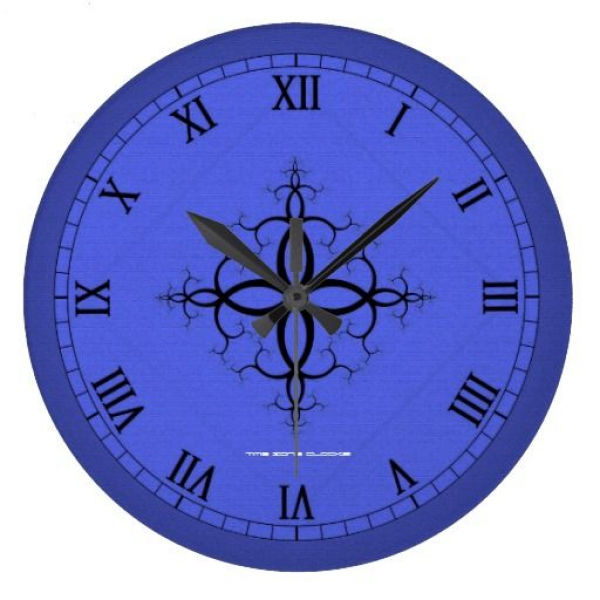 Blue Vineyard Large Wall Clock available at www.zazzle.com ...