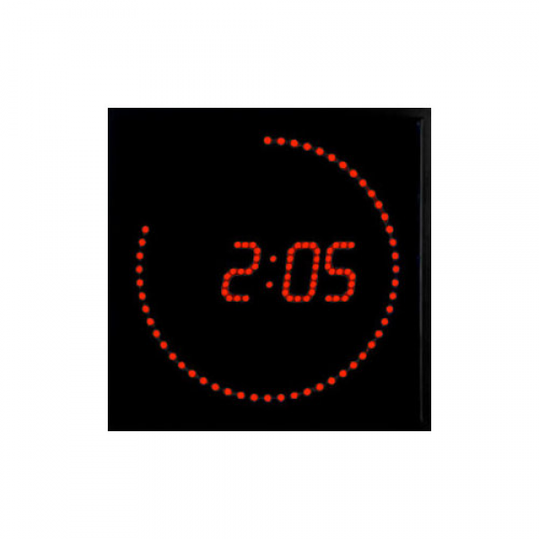 Big Time Clocks 11'' LED Digital Square Dot Wall Clock - Walmart.com