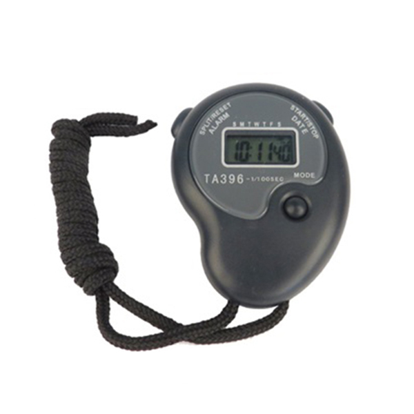 Digital Sports Handheld Stopwatch Watch Timer Time Date Alarm Clock ...
