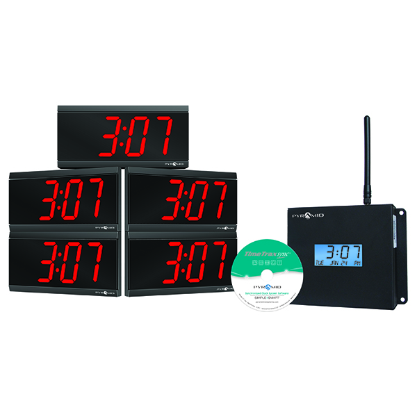 Pyramid Time Systems WSCBD Wireless Digital Clocks at SCHOOLSin