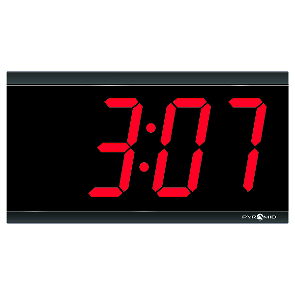 Pyramid Time Systems 4-Digit LED Wireless Clock at SCHOOLSin