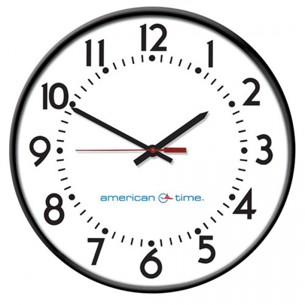 Steel Case Power over Ethernet (PoE) Analog Clocks | American Time