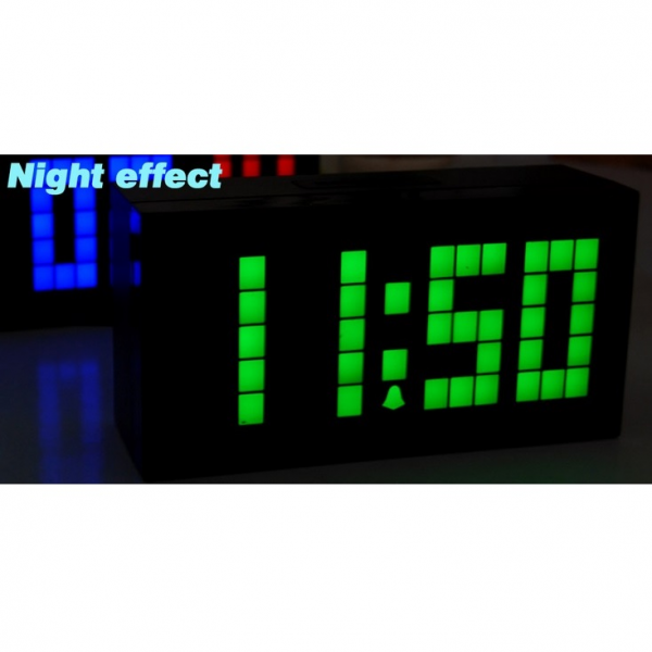 large2 digital jumbo led wall clock with thermometer and calendar red ...