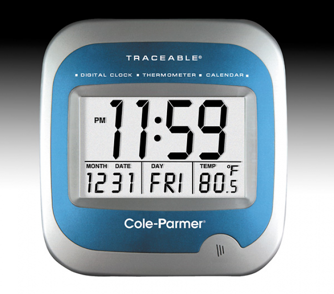 Cole Parmer Wall Mount Digital Clock Calendar Thermometer from Cole ...