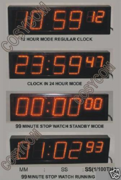 Home Digital Stopwatch, Count Up Timer or Count Down Timer - 6 Digit