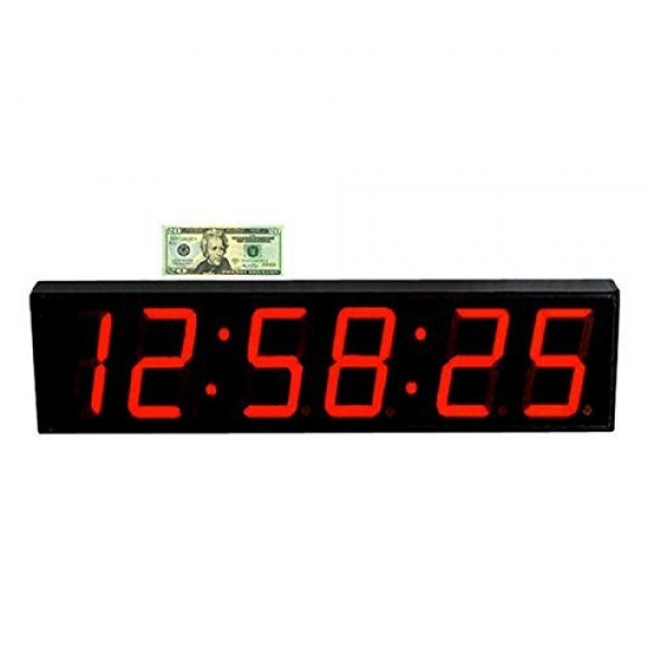 Wall Clock Digital 5 LED Count Down/Up/Interval Timer/Stopwatch ...