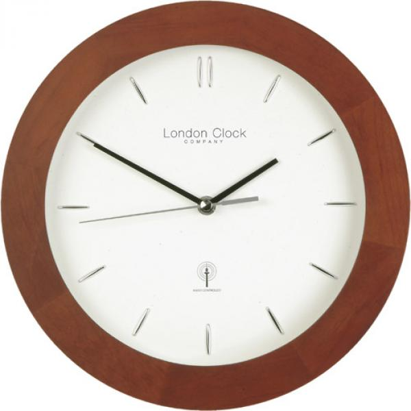 ... Clock Company Dark wood radio controlled wall clock » Posh Clocks