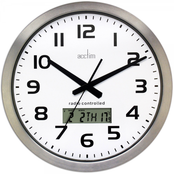 You are here: Home > Meridian Radio Controlled Wall Clock 38cm