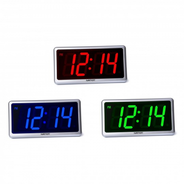 IVATION™ Big Time Digital LED Clock - Table or Wall Clock ...