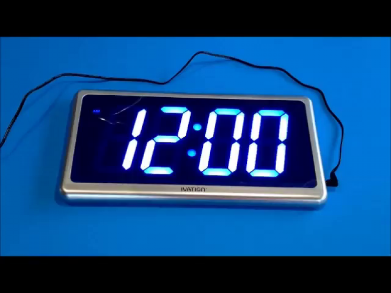 Ivation Big Time Digital LED Clock - Table or Wall Clock - Dimmable ...