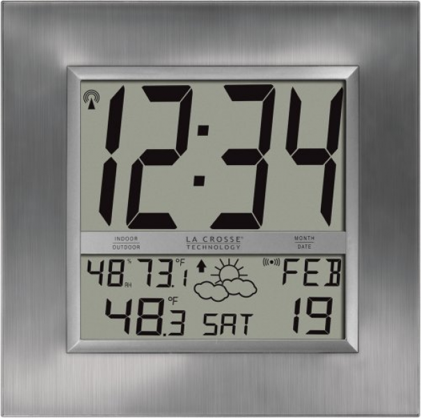La Crosse Technology WS-8349U Atomic Digital Wall Clock
