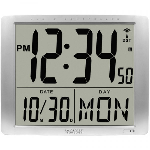 La Crosse Technology Atomic Super Large 16 Digital Wall Clock ...