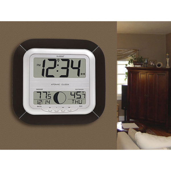 La Crosse Technology Atomic Digital Wall Clock & Reviews | Wayfair