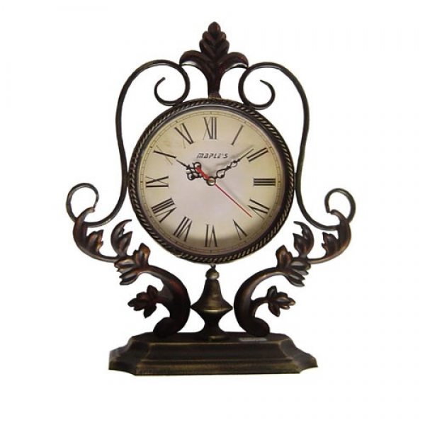 ... Metal Decor Table Clock Maple S Clock Tabletop & Mantle Clocks