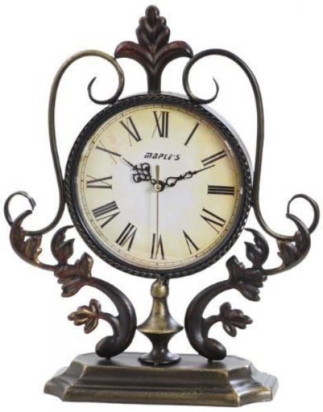 Maple's Plant Ornate Metal Decor Table Clock by Maple's, http://www ...
