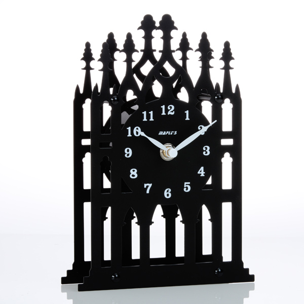 Silhouette Metal Table Clock - Home Accent/Decor Clock