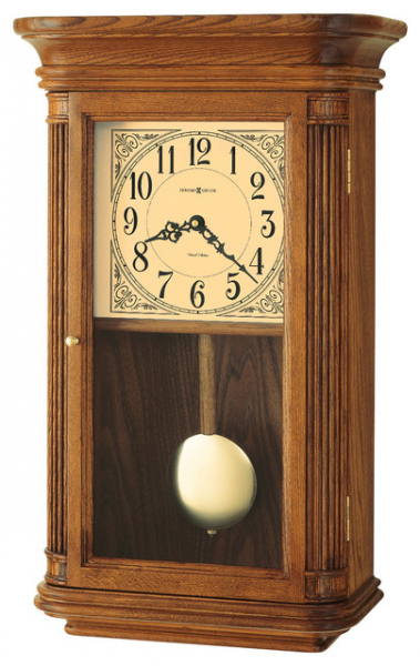 Howard Miller Dual Chime Vintage Oak Wall Clock | WESTBROOK ...