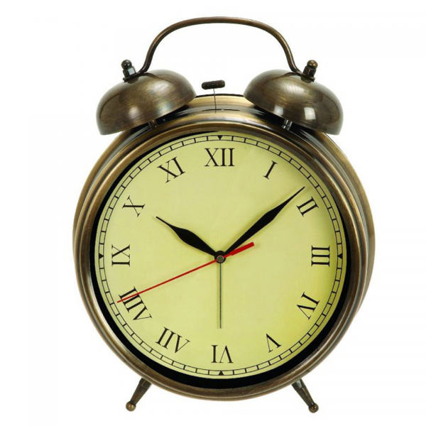 Uma Antique Brass Table Clock - Beyond from beyondtherack.com