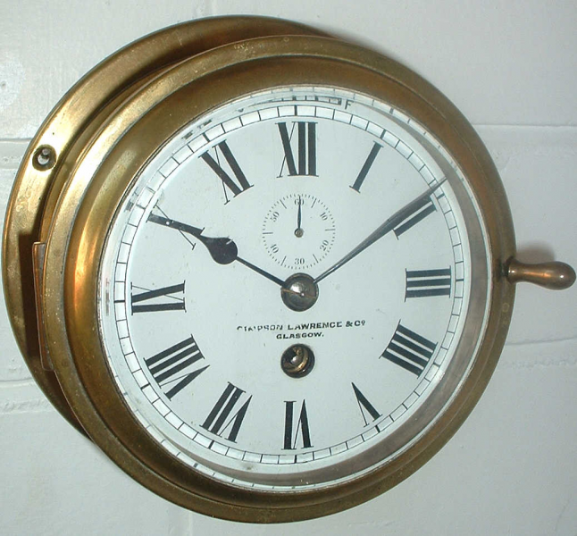 BRASS SHIP'S CLOCK BY SIMPSO | Grandfather Clocks by John Shone