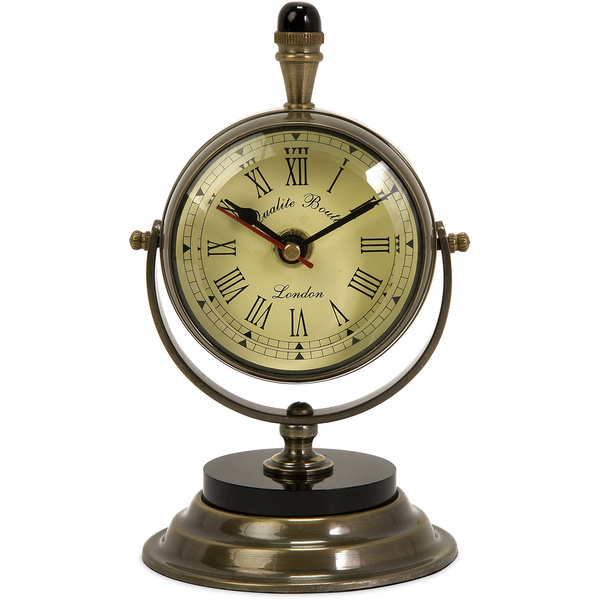 Soren Brass Table Clock - Overstock Shopping - Great Deals on Imax ...
