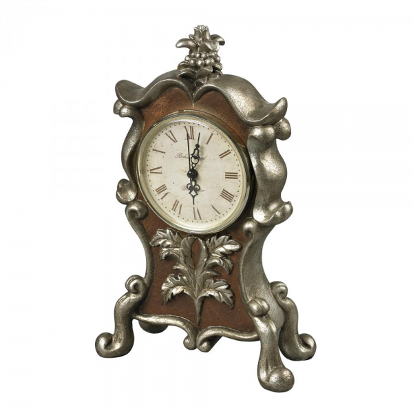 Sterling Industries Desk Clock In Antique Silver And Chestnut - 93 ...