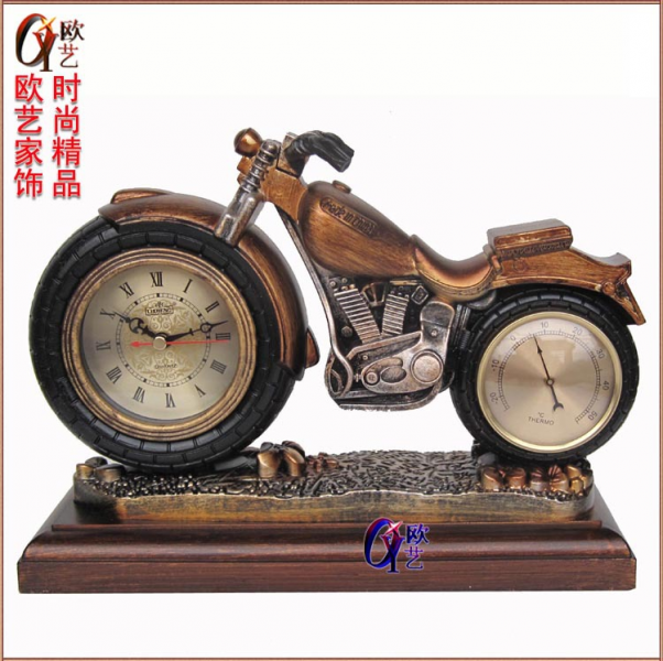 Art European antique clocks motorcycle clock table clock clock with ...