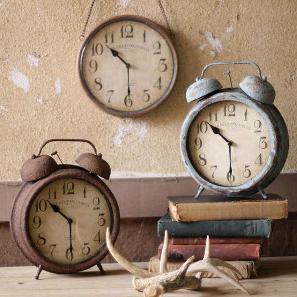 Antique Finish Metal Clocks - Eclectic - Clocks - atlanta - by Iron ...