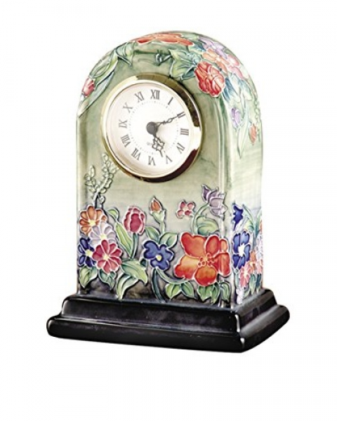 Dale Tiffany Flower Garden Clock, Green Multi As You See | SBCMG can ...