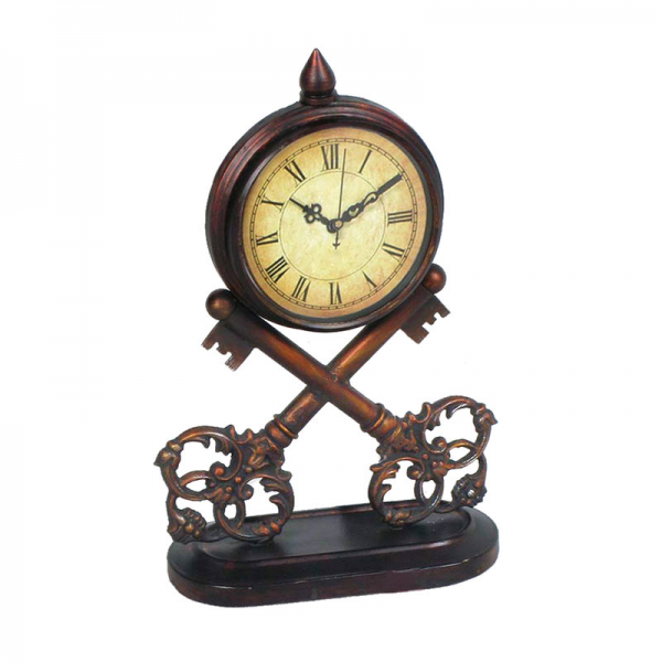 Sterling Industries 51-0281 Bold Copper 13.5 Height Key Clock ...