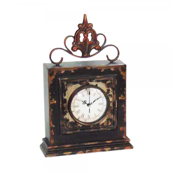 Buy Sterling Industries Finial 14x9 Rectangular Table Clock in Antique ...