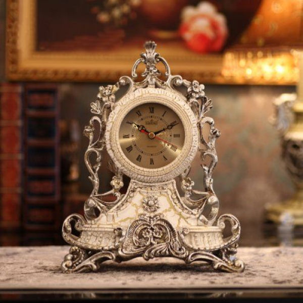 Mantel Clock Antique Vintage Retro Style Decorative Table Clock Home ...