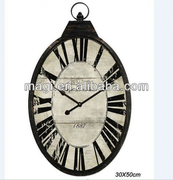 Wall Clock - Buy Decorative Wall Clock,Oval Shaped Wall Clock,Vintage ...