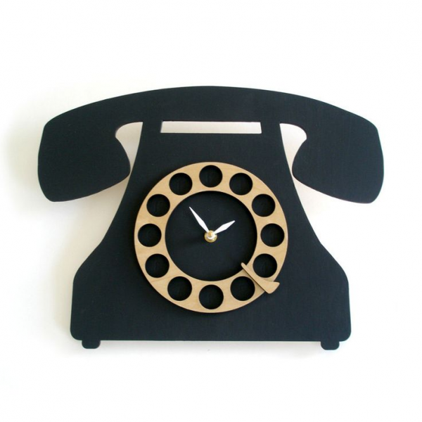 Vintage Style Telephone Clock. $84.00, via Etsy. Made from Birch ...