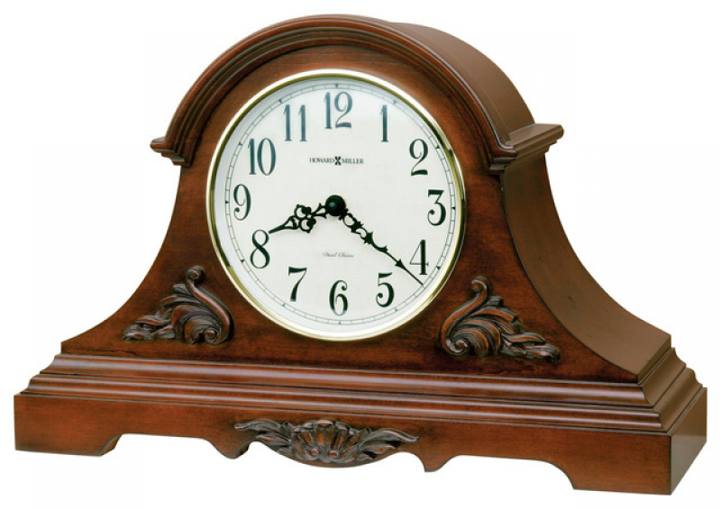 ... Carved Wood Mantel Clock | SHELDON traditional-desk-and-mantel-clocks
