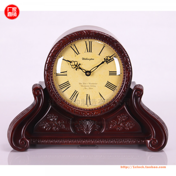 European style classic antique clock bedside table clock wooden clock ...