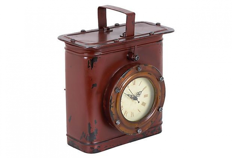 12 Metal Table Clock, Red on OneKingsLane.com