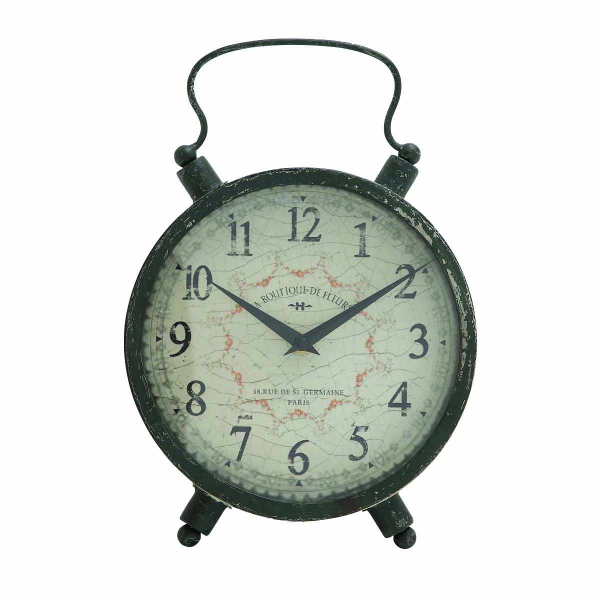 Benzara Attractive Styled Antique Metal Table Clock - Pricefalls.com
